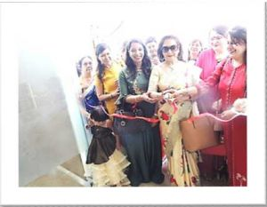 Inauguration by Meenakshi Tuteja, owner Meenakshi Salon